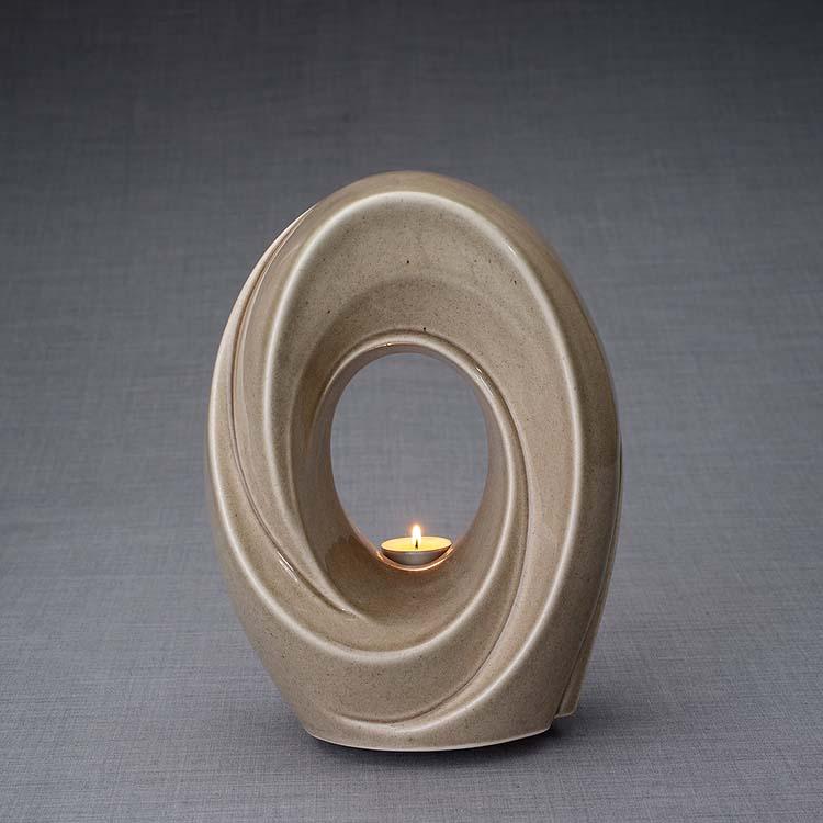 Keramische Crematie As Urn Passage Beige Grey (3.2 liter)