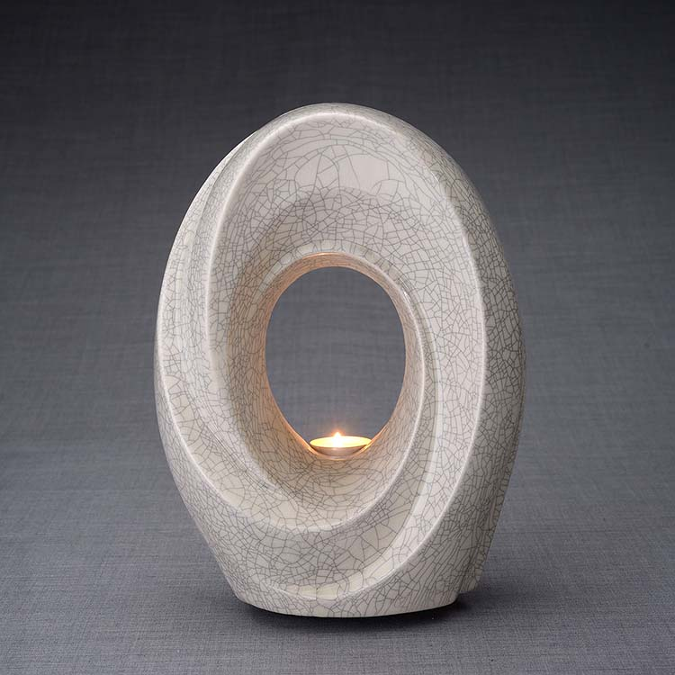 Keramische Crematie As Urn Passage Craquele (3.2 liter)