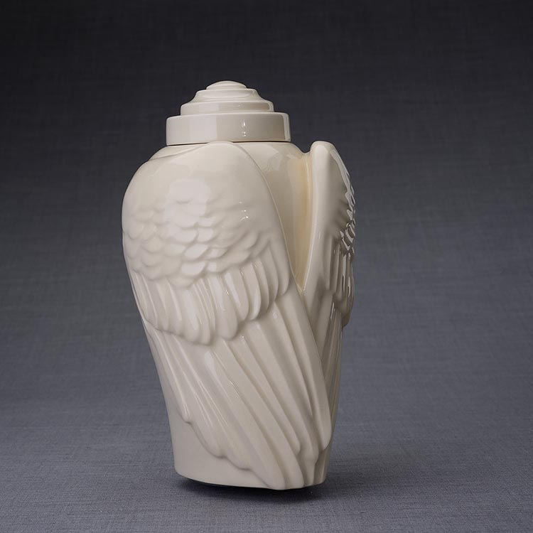 Keramische Crematie As Urn Wings Transparant (3.1 liter)