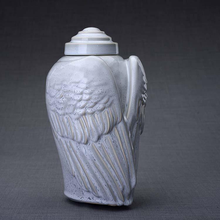 Keramische Crematie As Urn Wings Grey (3.1 liter)
