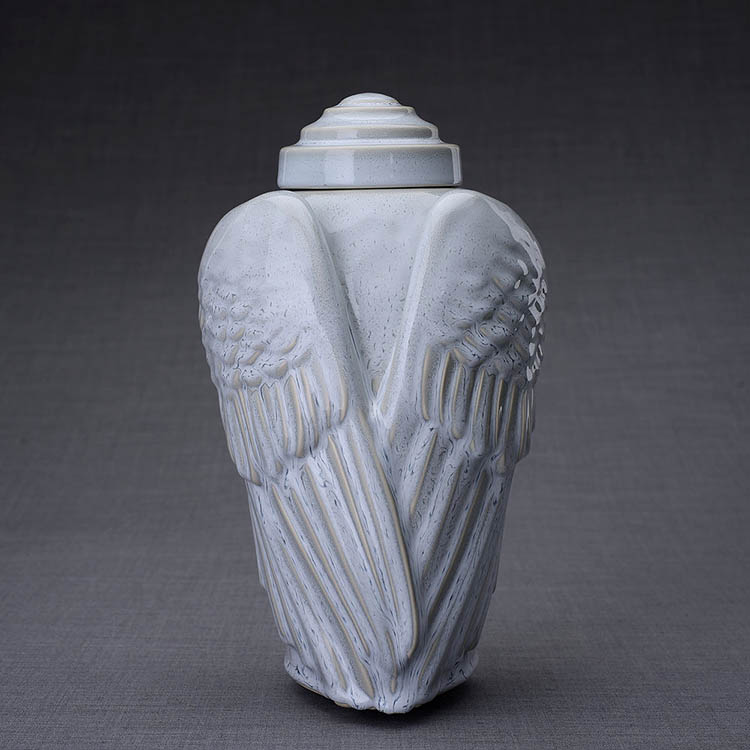 Keramische Crematie As Urn Wings Grey (3.1 liter)
