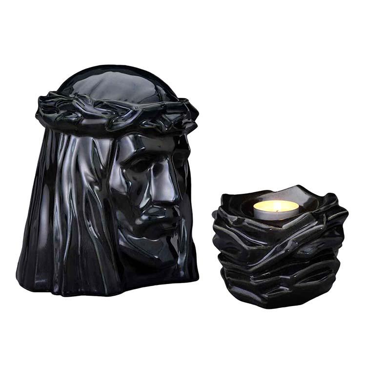 Art Urnen Voordeelset De Christus Cobalt Metallic (5.1 en 0.4 liter)