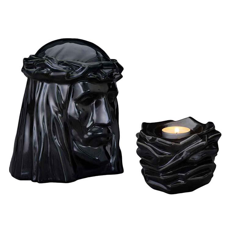 Art Urnen Voordeelset De Christus Black Gloss (5.1 en 0.4 liter)
