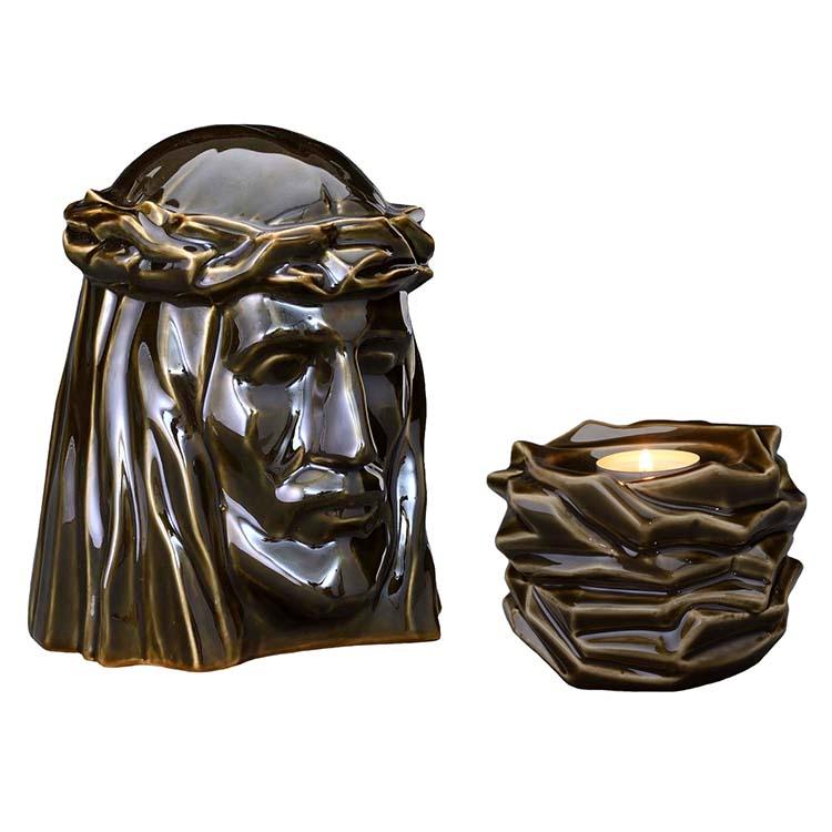 Art Urnen Voordeelset De Christus Green Oiled (5.1 en 0.4 liter)