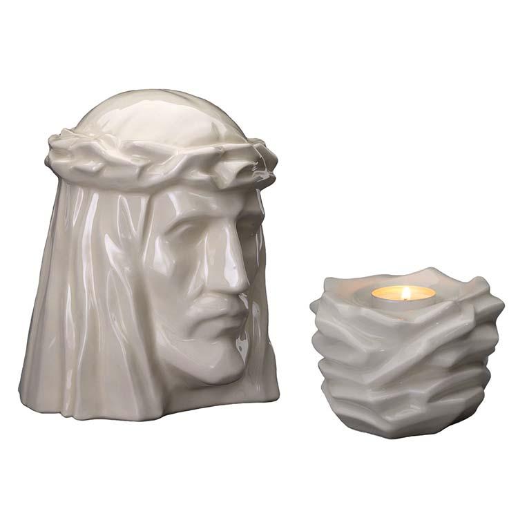 Art Urnen Voordeelset De Christus Transparant (5.1 en 0.4 liter)