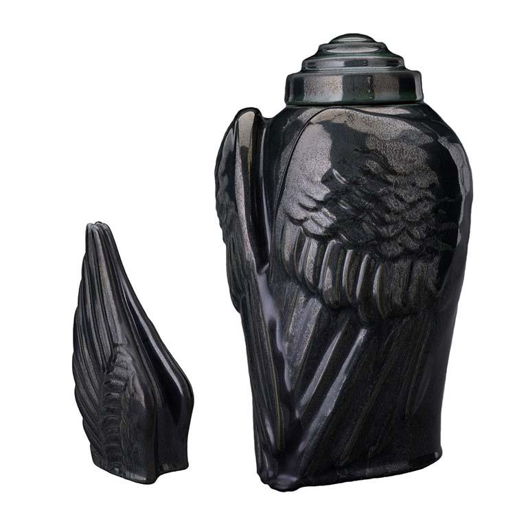Art Urnen Voordeelset Wings Antraciet (3.1 en 0.22 liter)