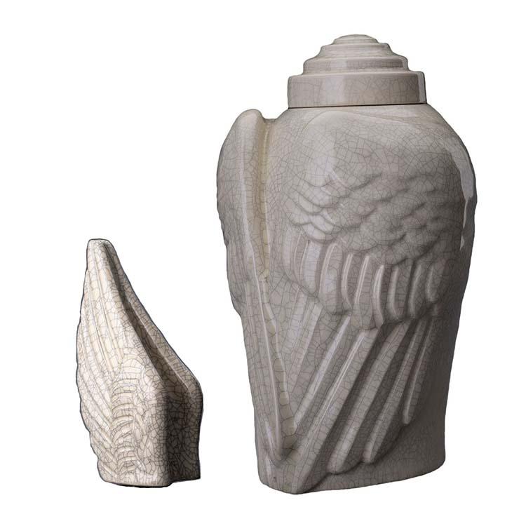 Art Urnen Voordeelset Wings Craquele (3.1 en 0.22 liter)