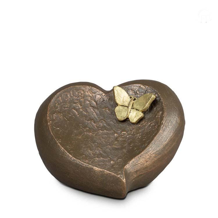 Grote Keramische Hart Urn Onontkoombaar Afscheid (3 liter)