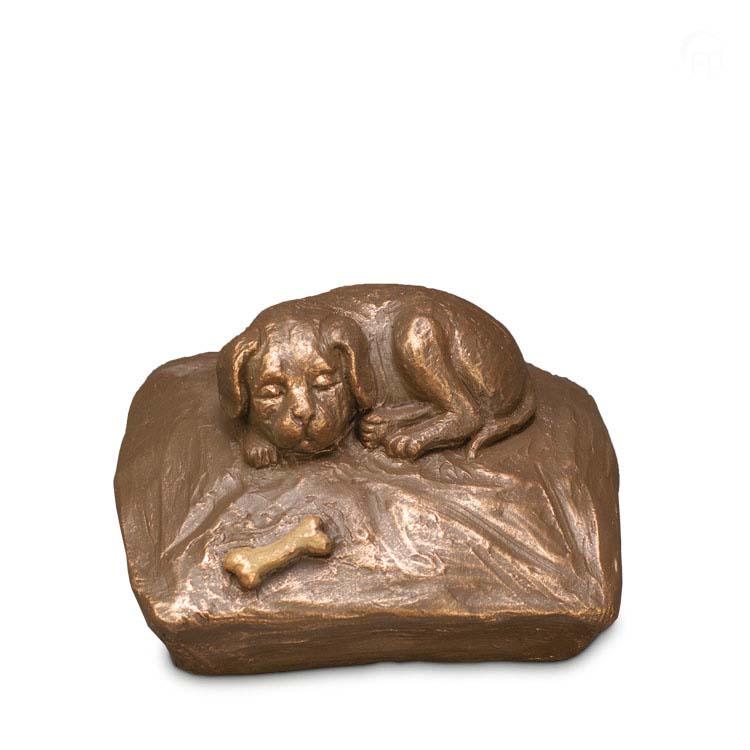 Keramische Hondenurn Eeuwige Rust op Kussen (0.7 liter)