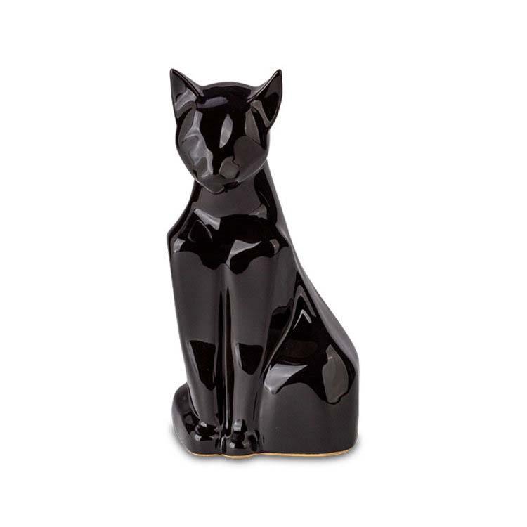 Zittende Kattenurn Blacky Glimmend Zwart (0.6 liter)