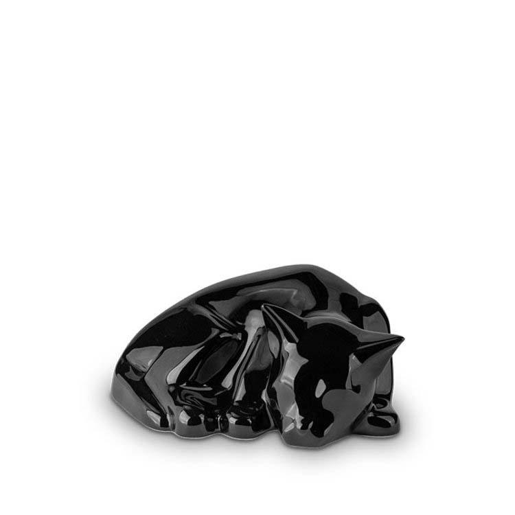 Liggende Kattenurn Blacky Glimmend Zwart (0.5 liter)