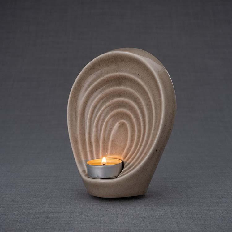 Keramische Mini Urn Guardian Beige (0.3 liter)