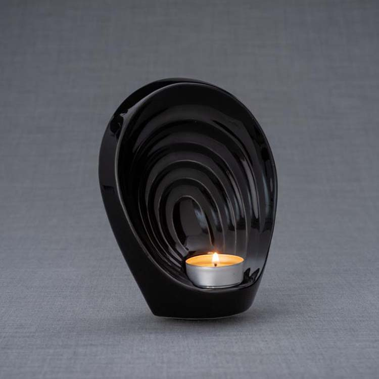 Keramische Mini Urn Guardian Zwart (0.3 liter)