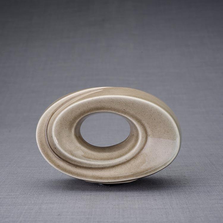 Keramische Mini Urn Passage Beige Grey (0.45 liter)