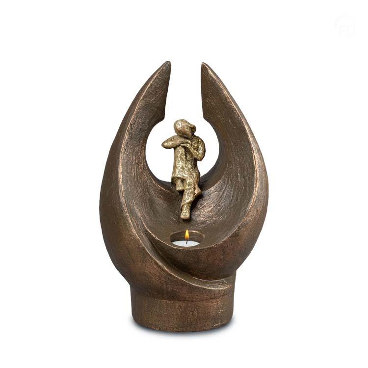 Grote Keramische Kaarshouder Urn Verstilde Wereld Vrouw (3 liter)