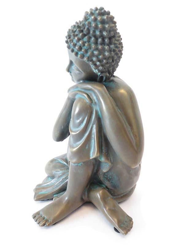 Kleine Buddha Urn Slapende Indische Buddha Bronze (0.5 liter)