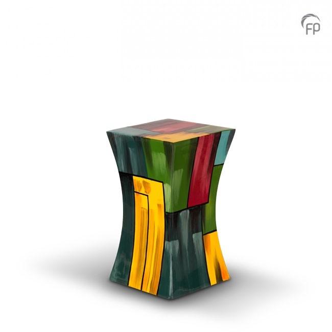 Kleine Diabolo Glasfiber Urn Kleurvlakken (1.1 liter)