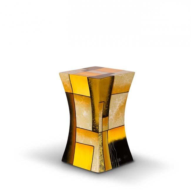 Kleine Diabolo Glasfiber Dierenurn Yellow (1.1 liter)