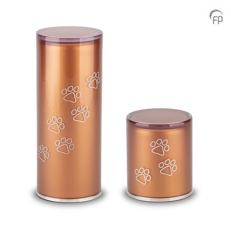 Kleine Kristalglazen Cilinder Dierenurn Brown (0.5 liter)