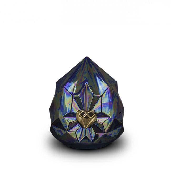 Kleine Keramische Diamant Dierenurn Purple (1.5 liter)