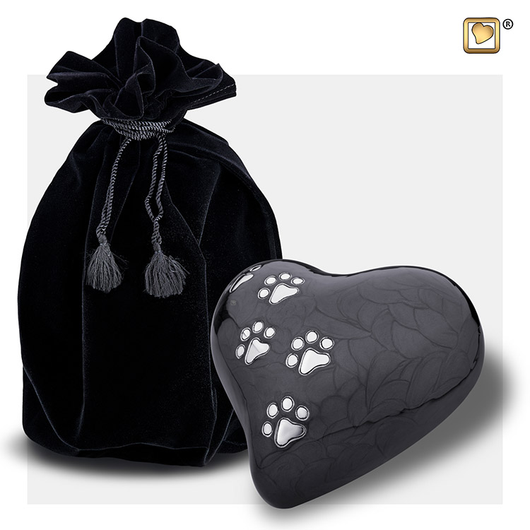 Medium Hart Dierenurn Midnight Black (0.5 liter)