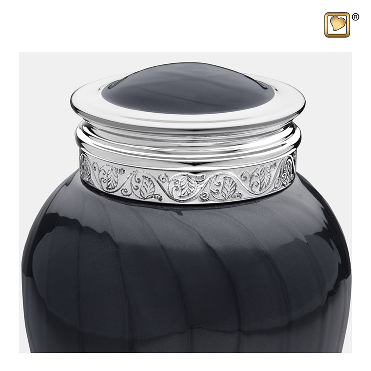 Kleine Blessing Urn Zwartmarmer, Zilver Sierrand (0.8 liter)