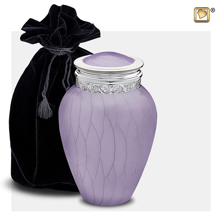 Kleine Blessing Urn Lavendel Gemarmerd, Zilver (0.8 liter)