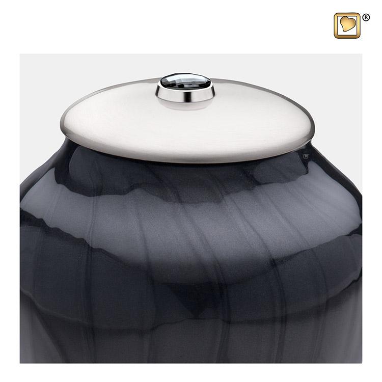 Kleine LoveUrns Simplicity Urn Zwartmarmer (0.8 liter)