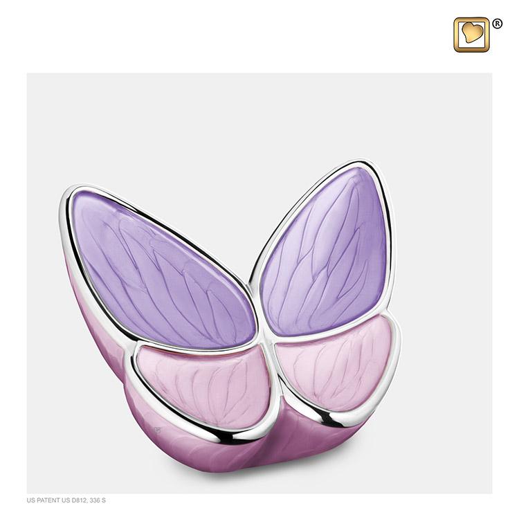 Kleine Roze LoveUrns Butterfly Dierenurn (0.4 liter)