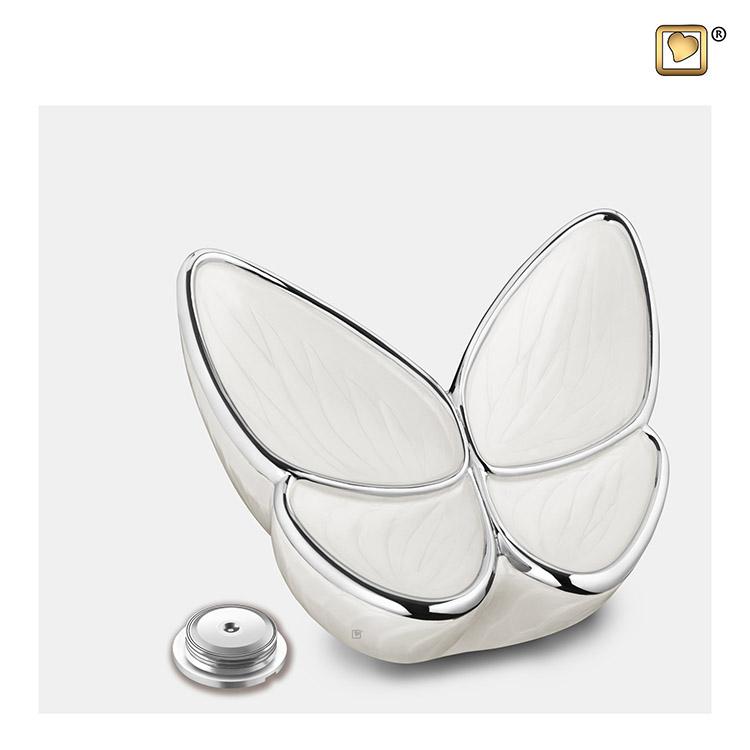 Kleine LoveUrns Butterfly Urn Wit (0.4 liter)