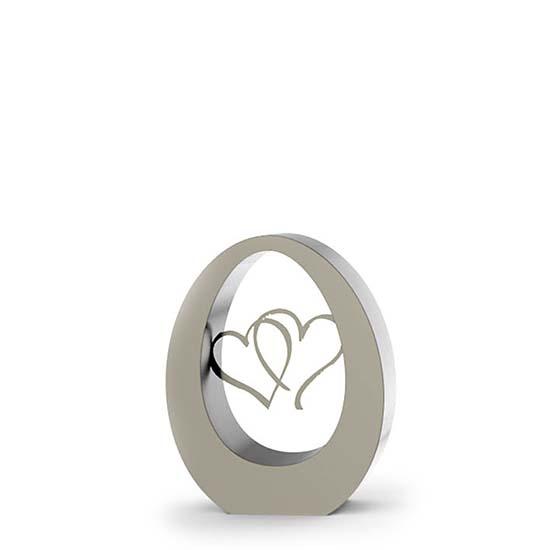 Klein RVS Oval Hearts Asbeeld (0.9 liter)