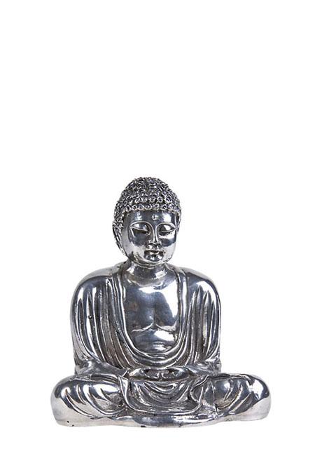 Boeddha mini urn Tot Inzicht Gekomen Zilver (0.08 liter)