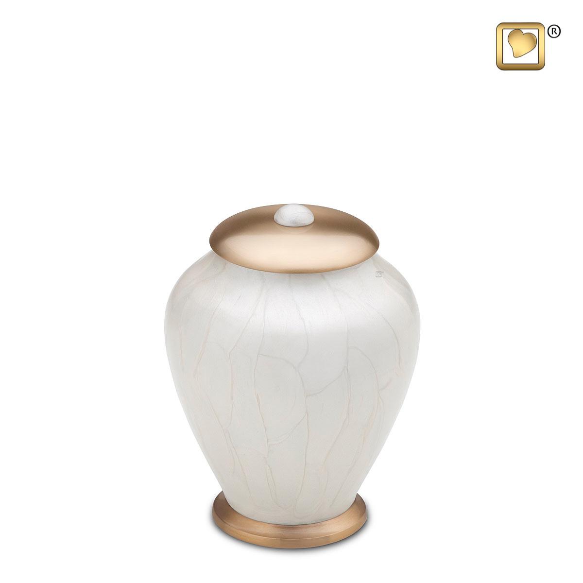 Kleine LoveUrns Simplicity Urn Witmarmer (0.8 liter)