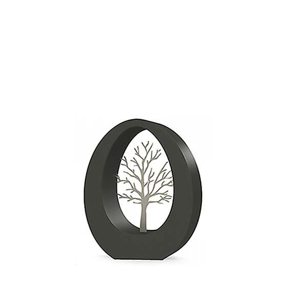 RVS Oval Levensboom Urn (0.9 liter)