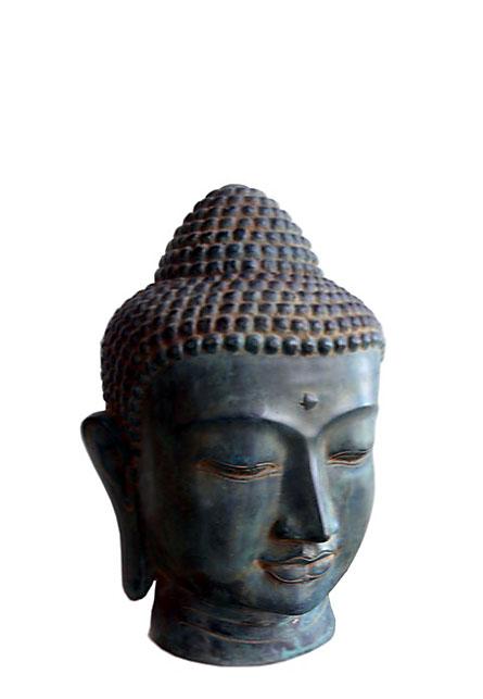 Bronzen Boeddha Hoofd Urn (1.9 liter)
