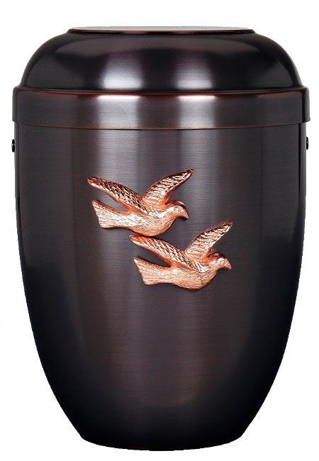 Duo-colour Designer Urn met Duiven (4 liter)