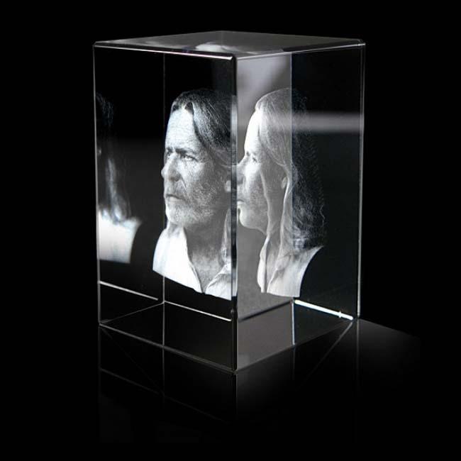 Kristalglas Rechthoek met Lasergravure (8 cm.)