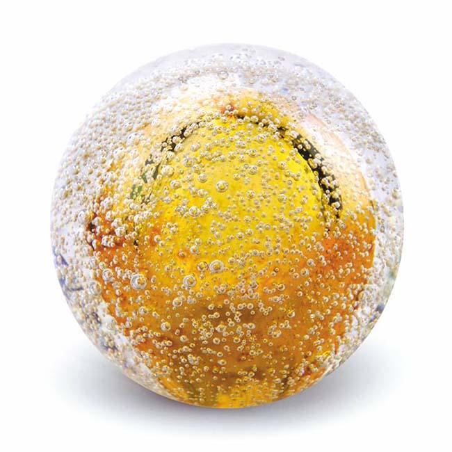 Kristalglazen Mini Bol Urn Stardust Bulb Goud (0.08 liter)
