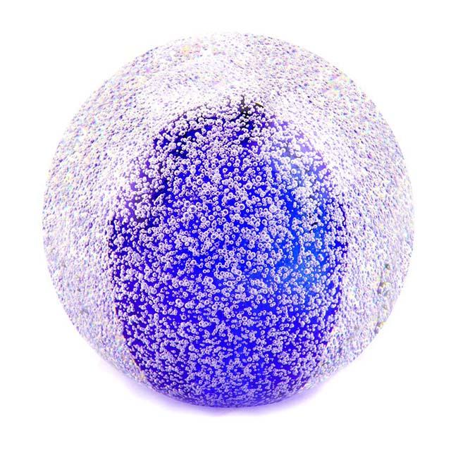 Kristalglazen Mini Bol Urn Stardust Bulb Koningsblauw (0.08 liter)