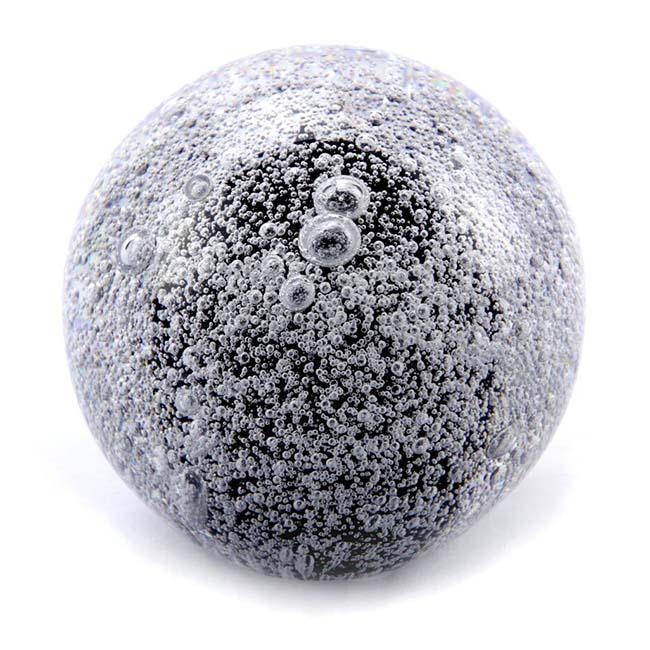 Kristalglazen Mini Bol Urn Stardust Bulb Zwart (0.08 liter)