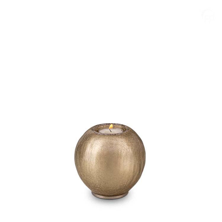 Urn met Waxinelichtje Cappuccino Craquele (0.7 liter)