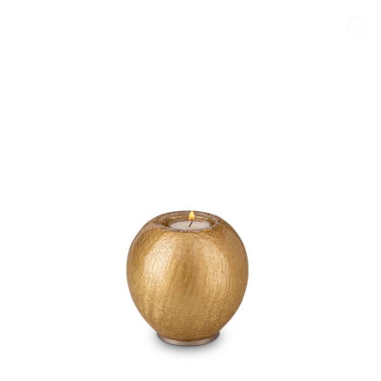 Dierenurn met Waxinelichtje Goud Craquele (0.7 liter)