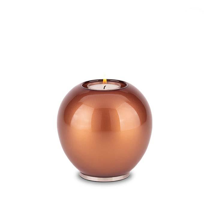 Urn met Waxinelichtje Bruin (0.5 liter)