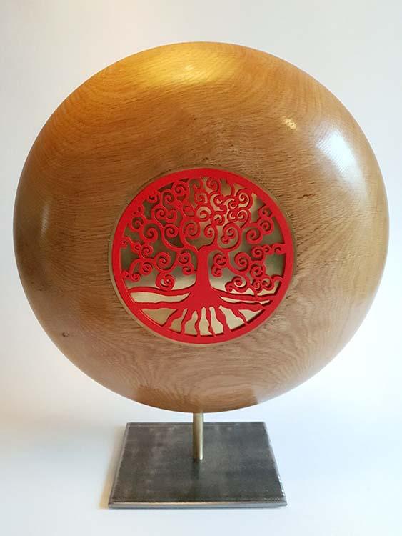 Grote Laguna Copper Design Urn op Sokkel (ca. 3.5 liter)