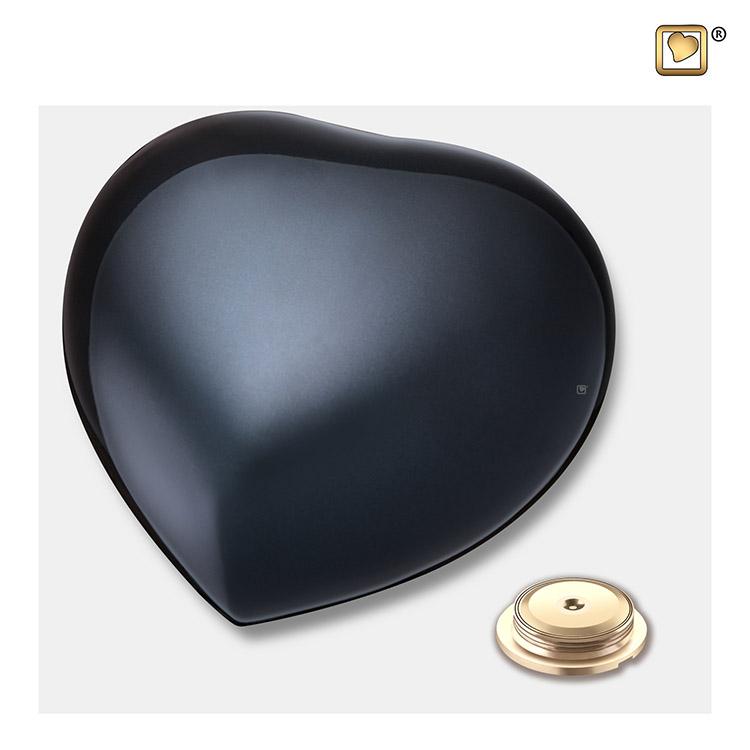 Kleine LoveUrns Hart Urn Shiny Black (0.8 liter)