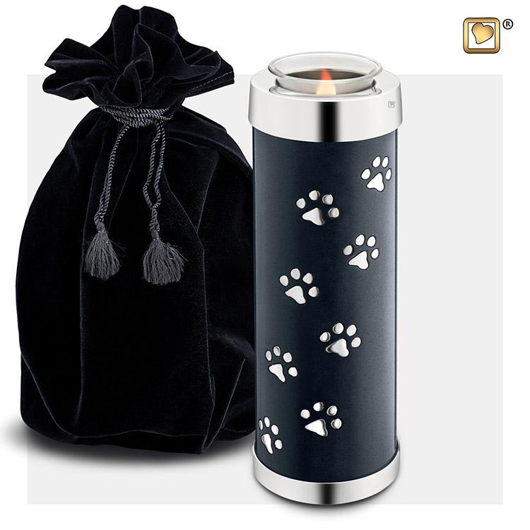 Dierenurn met Waxinelichtje Midnight Black (1.1 liter)