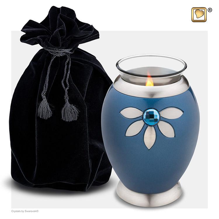 Urn met Waxinelichtje Nirvana Azure (0.49 liter)