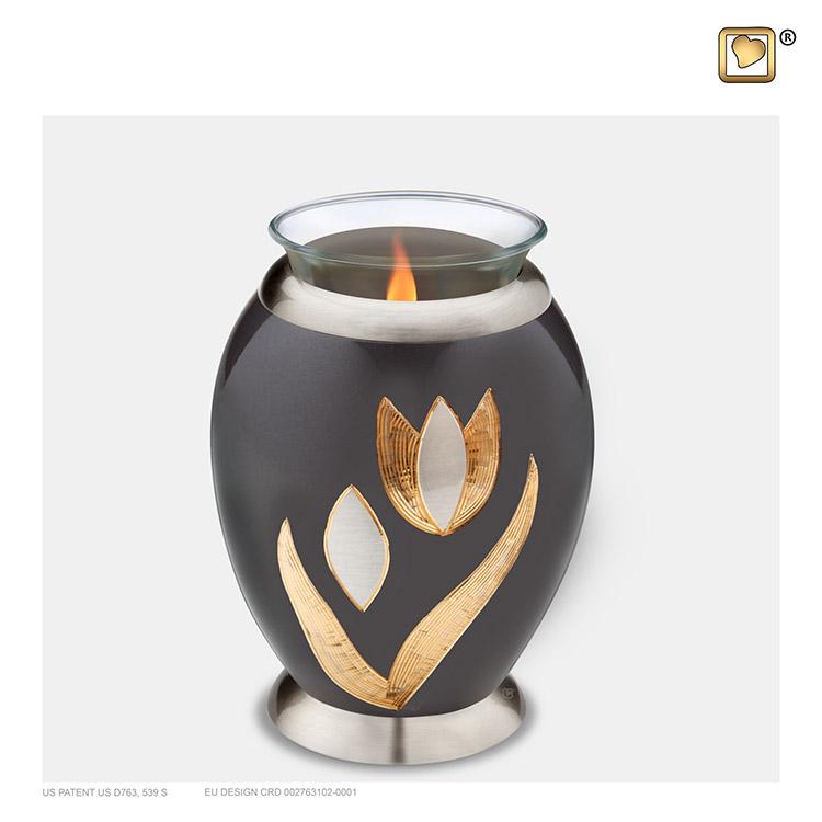 Urn met Waxinelichtje Messing Tulp (0.49 liter)