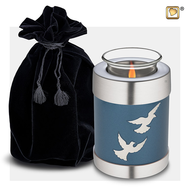 Dierenurn met Waxinelichtje Devine Flying Doves (0.45 liter)