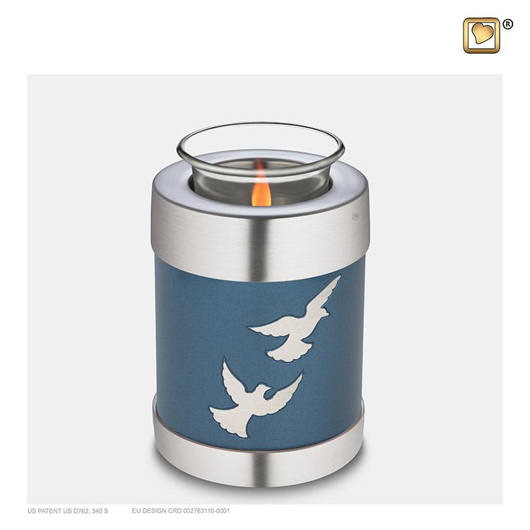 Urn met Waxinelichtje Devine Flying Doves (0.45 liter)